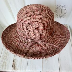August Hat Company 100% Straw Hat Pink